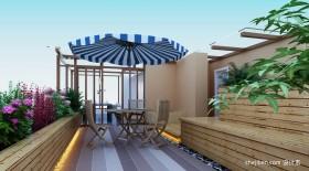 露台花园效果图