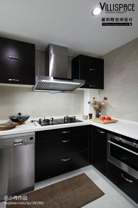 中式风格橱柜厨房装修效果图大全2013