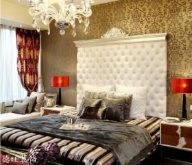 现代风格卧室床头背景墙效果图