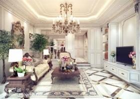 欧式风格客厅欧式客厅吊顶灯效果图图片