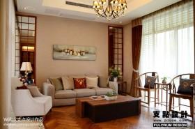 现代客厅沙发木地板装修效果图