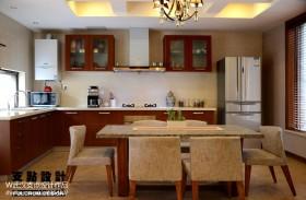 现代厨房餐厅一体效果图片