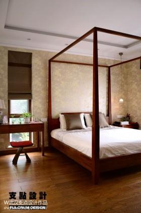简约现代卧室实木床图片