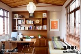 书房卧室一体设计效果图