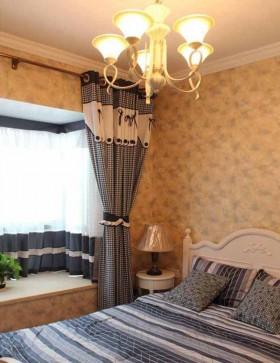 卧室飘窗窗帘装修效果图大全
