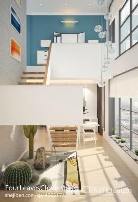 现代复式楼楼梯效果图