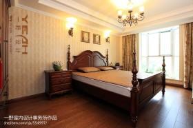 美式卧室壁纸装修效果图2013