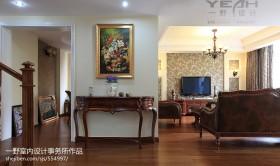 美式客厅玄关装修效果图