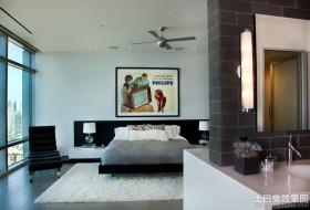 现代大主卧室装修效果图大全2013图片