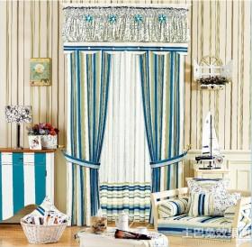 韩式风格飘窗窗帘装修效果图