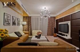 现代客厅电视背景墙设计装修效果图