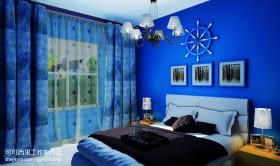 地中海卧室窗帘效果图欣赏