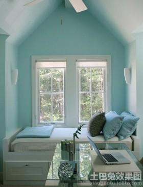2013斜顶阁楼小卧室装修效果图欣赏