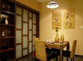 现代中式小餐厅装修效果图