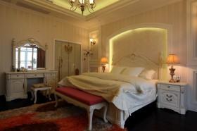 卧室床头背景墙壁纸效果图