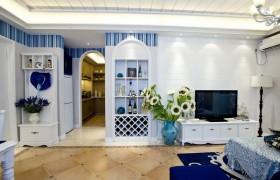 地中海风格电视背景墙效果图欣赏