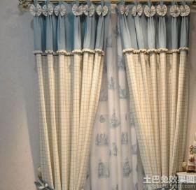 2013韩式风格客厅窗帘装修效果图欣赏