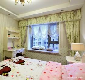 韩式田园卧室飘窗效果图
