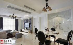 现代风格餐厅客厅一体设计效果图
