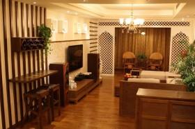 东南亚风格客厅电视背景墙效果图图片