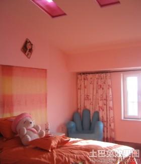 斜顶阁楼儿童房窗帘效果图