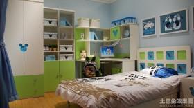 简约儿童房书柜装修效果图