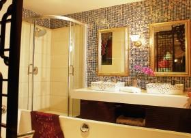 东南亚风格卫生间洗手台设计效果图