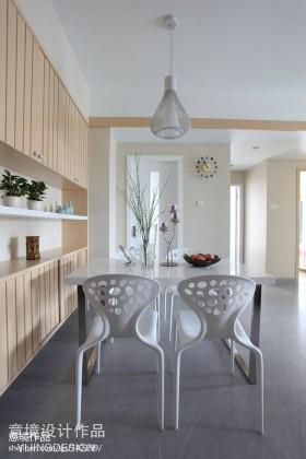 现代风格家装餐厅靠墙置物柜效果图