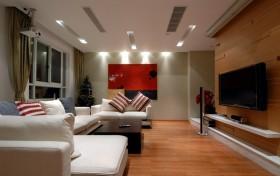 现代风格客厅电视机背景墙隔断装修效果图