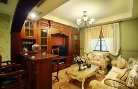 欧式田园风格小客厅装修效果图欣赏