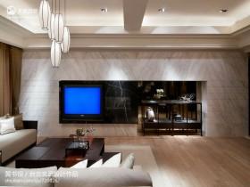中式客厅大理石电视柜背景墙效果图