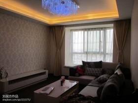 客厅飘窗窗帘效果图图片