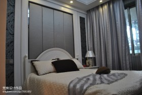 简欧式卧室背景墙效果图欣赏
