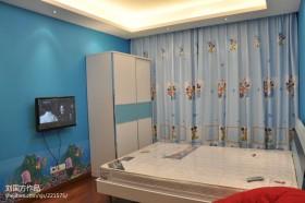 现代简约儿童房电视背景墙效果图