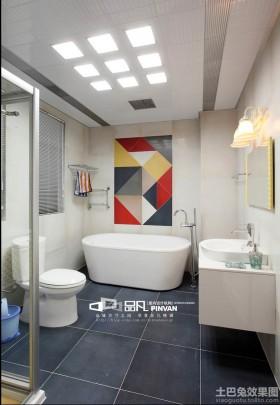 现代简约家庭卫生间装修效果图欣赏