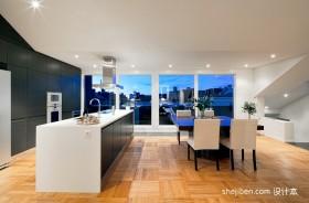 斜顶小复式时尚家居厨房餐厅装修效果图
