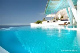 豪华度假别墅游泳池装修效果图