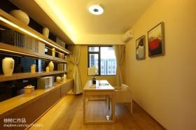 现代简约书房书架装修效果图片欣赏