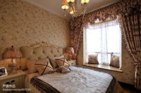 田园风格卧室飘窗装修效果图欣赏