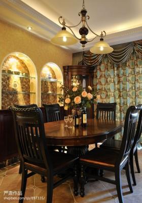 美式风格餐厅2013美式家庭餐厅装修效果图