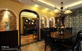 美式风格家庭餐厅装修效果图
