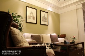 沙发背景墙挂画效果图