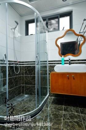 中式卫生间装修效果图大全2013图片