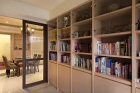 简约风格书房整体书柜效果图