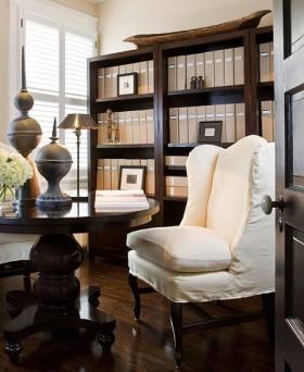 中式风格小书房装修效果图