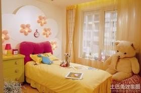 儿童房床头背景墙窗帘效果图