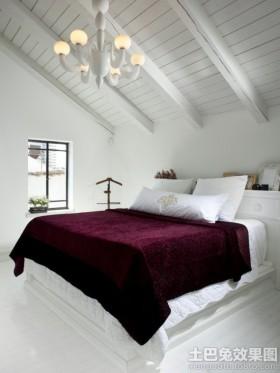 斜顶阁楼卧室设计效果图大全2013图片