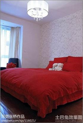 现代简约婚房卧室装修效果图大全2013图片