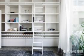 现代简约小书房书柜效果图片大全