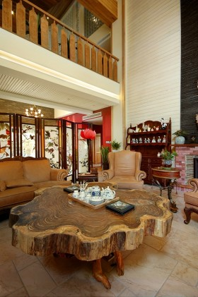 中式客厅茶几装修效果图